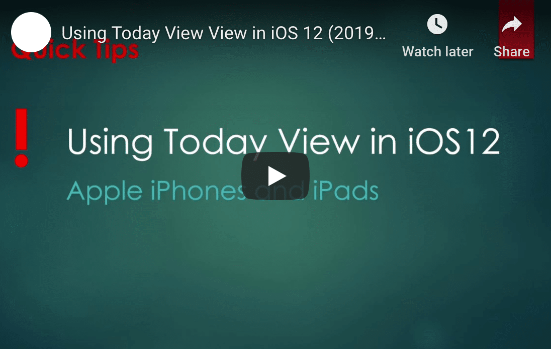 iOS 12 Today View